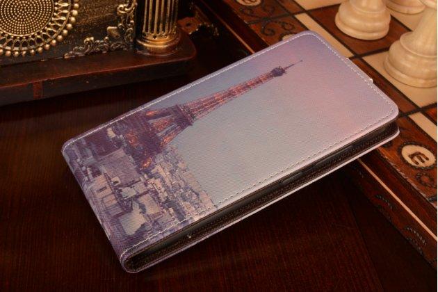 """Фирменный вертикальный откидной чехол-флип для ASUS ZenFone 3 / Zenfone 3 Neo ZE520KL 5.2"""" """"тематика Париж"""""""