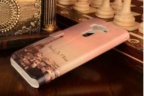 """Фирменный чехол-книжка с рисунком на тему """"Эйфелева башня"""" на ASUS ZenFone 3 / Zenfone 3 Neo ZE520KL 5.2 с окошком для звонков"""
