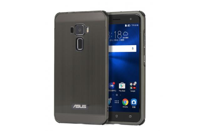 """Фирменная металлическая задняя панель-крышка-накладка из тончайшего облегченного авиационного алюминия для ASUS ZenFone 3 / Zenfone 3 Neo ZE520KL 5.2""""  черная"""