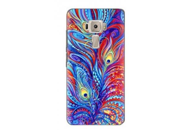 """Фирменная силиконовая задняя панель-чехол-накладка с безумно красивым расписным рисунком Перо Павлина для ASUS ZenFone 3 / Zenfone 3 Neo ZE520KL 5.2"""""""