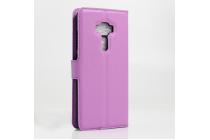 """Фирменный чехол-книжка для  ASUS ZenFone 3 / Zenfone 3 Neo ZE520KL 5.2"""" с визитницей и мультиподставкой фиолетовый кожаный"""