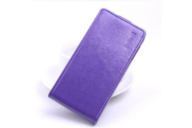 """Фирменный оригинальный вертикальный откидной чехол-флип для ASUS ZenFone 3 / Zenfone 3 Neo ZE520KL 5.2"""" фиолетовый кожаный"""