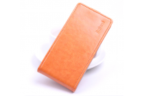 """Фирменный оригинальный вертикальный откидной чехол-флип для ASUS ZenFone 3 / Zenfone 3 Neo ZE520KL 5.2"""" оранжевый кожаный"""