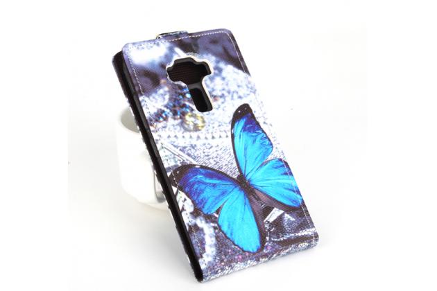 """Фирменный уникальный необычный чехол-флип для ASUS ZenFone 3 / Zenfone 3 Neo ZE520KL 5.2"""" """"тематика Бабочки"""""""
