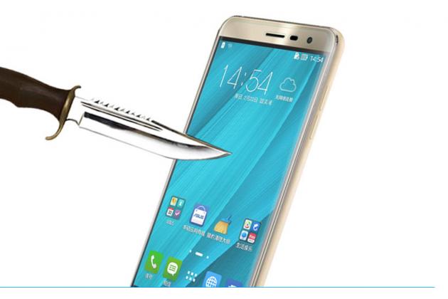 Фирменное защитное закалённое противоударное стекло для телефона ASUS ZenFone 5 Lite ZC600KL 3/ 4 из качественного японского материала премиум-класса с олеофобным покрытием