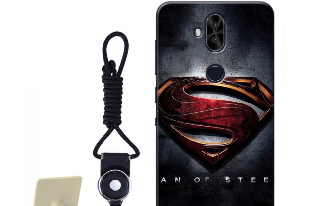 """Фирменная роскошная задняя панель-чехол-накладка  из мягкого силикона с безумно красивым расписным 3D рисунком на ASUS ZenFone 5 Lite ZC600KL 3/ 4 """"тематика Superman"""""""