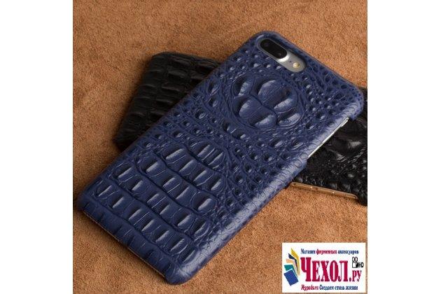 Фирменная роскошная эксклюзивная накладка с объёмным 3D изображением рельефа кожи крокодила синего цвета для ASUS ZenFone AR ZS571KL. Только в нашем магазине. Количество ограничено