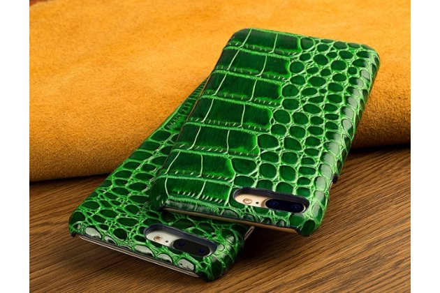 Фирменная элегантная экзотическая задняя панель-крышка с фактурной отделкой натуральной кожи крокодила зеленого цвета для ASUS ZenFone AR ZS571KL . Только в нашем магазине. Количество ограничено.