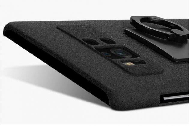 Задняя панель-крышка из прочного пластика с матовым противоскользящим покрытием для ASUS ZenFone AR ZS571KL  с подставкой в черном цвете
