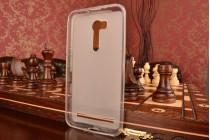 """Фирменная ультра-тонкая силиконовая задняя панель-чехол-накладка для ASUS ZenFone Go ZB551KL  / Go TV ZB551KL 5.5"""" белая"""