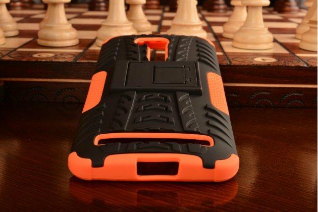 """Противоударный усиленный ударопрочный фирменный чехол-бампер-пенал для ASUS ZenFone Go ZB551KL  / Go TV ZB551KL 5.5"""" оранжевый"""