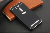 """Фирменная металлическая задняя панель-крышка-накладка из тончайшего облегченного авиационного алюминия для ASUS ZenFone Go ZB551KL  / Go TV ZB551KL 5.5"""" черная"""