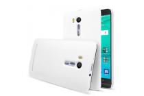 """Фирменная задняя панель-крышка-накладка из тончайшего и прочного пластика для ASUS ZenFone Go ZB551KL  / Go TV ZB551KL 5.5"""" белая"""