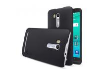 """Фирменная задняя панель-крышка-накладка из тончайшего и прочного пластика для ASUS ZenFone Go ZB551KL  / Go TV ZB551KL 5.5"""" черная"""