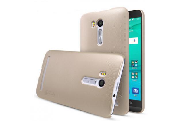 """Фирменная задняя панель-крышка-накладка из тончайшего и прочного пластика для ASUS ZenFone Go ZB551KL  / Go TV ZB551KL 5.5"""" золотая"""