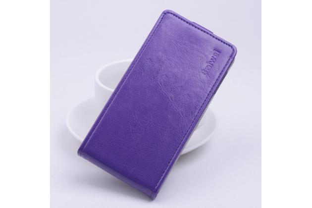 """Фирменный оригинальный вертикальный откидной чехол-флип для ASUS ZenFone Go ZB551KL  / Go TV ZB551KL 5.5"""" фиолетовый кожаный"""