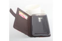 """Фирменный уникальный необычный чехол-подставка с визитницей кармашком для ASUS ZenFone Go ZB551KL  / Go TV ZB551KL 5.5"""" """"тематика Тигр"""""""