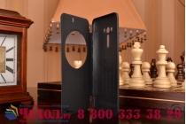"""Ультра тонкий лёгкий чехол-обложка с окном для входящих вызовов для ASUS Zenfone Selfie ZD551KL 5.5""""  черный"""
