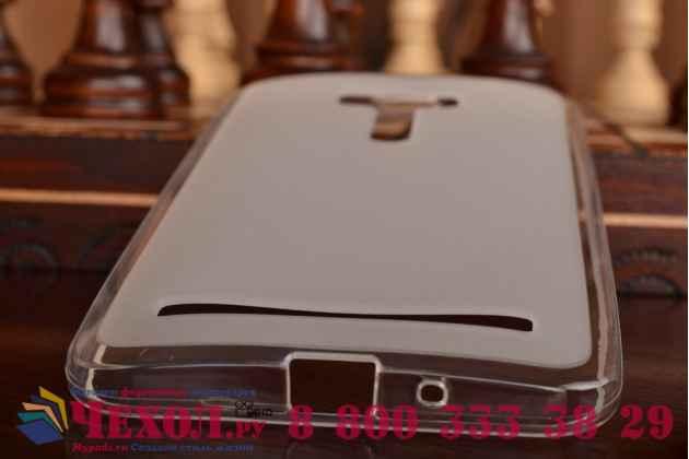 Фирменная ультра-тонкая полимерная из мягкого качественного силикона задняя панель-чехол-накладка для  ASUS ZenFone Selfie ZD551KL белая