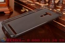 Фирменная ультра-тонкая полимерная из мягкого качественного силикона задняя панель-чехол-накладка для ASUS ZenFone Selfie ZD551KL черная