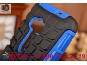 Противоударный усиленный ударопрочный фирменный чехол-бампер-пенал для  ASUS ZenFone Selfie ZD551KL синий..
