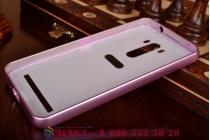"""Фирменная металлическая задняя панель-крышка-накладка из тончайшего облегченного авиационного алюминия для ASUS ZenFone Selfie ZD551KL 5.5"""" розовая"""