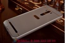 """Фирменная металлическая задняя панель-крышка-накладка из тончайшего облегченного авиационного алюминия для ASUS ZenFone Selfie ZD551KL 5.5""""  серебристая"""