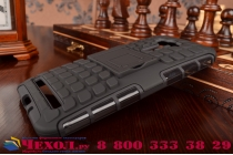 Противоударный усиленный ударопрочный фирменный чехол-бампер-пенал для ASUS ZenFone Selfie ZD551KL серый