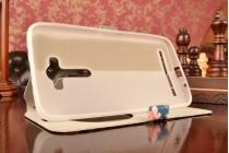 """Фирменный уникальный необычный чехол-книжка для ASUS Zenfone 2 Lazer ZE550KL 5.5""""   """"тематика Олени"""""""