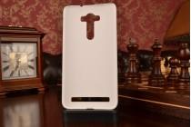 """Фирменная задняя панель-крышка-накладка из тончайшего и прочного пластика для ASUS Zenfone 2 Lazer ZE550KL 5.5"""" белая"""
