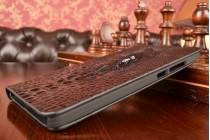 Фирменный роскошный эксклюзивный чехол с объёмным 3D изображением головы крокодила черный для ASUS Zenfone 6 A600CG/A601CG. Только в нашем магазине. Количество ограничено