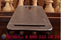 """Фирменная металлическая задняя панель-крышка-накладка из тончайшего облегченного авиационного алюминия для ASUS Zenfone 2 Lazer ZE550KL 5.5""""  серебристая"""
