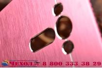 """Фирменная металлическая задняя панель-крышка-накладка из тончайшего облегченного авиационного алюминия для ASUS Zenfone 2 Lazer ZE550KL 5.5"""" розовая"""