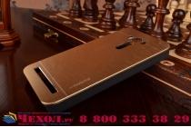 """Фирменная металлическая задняя панель-крышка-накладка из тончайшего облегченного авиационного алюминия для ASUS Zenfone 2 Lazer ZE550KL 5.5"""" золотая"""