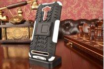 """Противоударный усиленный ударопрочный фирменный чехол-бампер-пенал для ASUS Zenfone 2 Lazer ZE550KL 5.5"""" белый"""