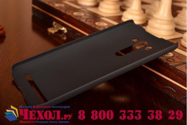 """Фирменная задняя панель-крышка-накладка из тончайшего и прочного пластика для ASUS Zenfone 2 Lazer ZE550KL 5.5""""  черная"""