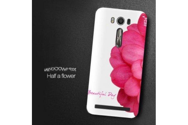 """Фирменная необычная из качественного и тончайшего силикона задняя панель-чехол-накладка для ASUS Zenfone 2 Lazer ZE500KL 5.0""""  """"тематика Цветок"""""""
