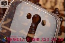 """Фирменная ультра-тонкая полимерная из мягкого качественного силикона задняя панель-чехол-накладка для ASUS Zenfone 2 Lazer ZE550KL 5.5""""  белая"""