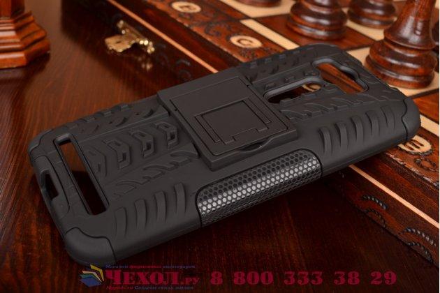 """Противоударный усиленный ударопрочный фирменный чехол-бампер-пенал для ASUS Zenfone 2 Lazer ZE500KL 5.0"""" черный"""