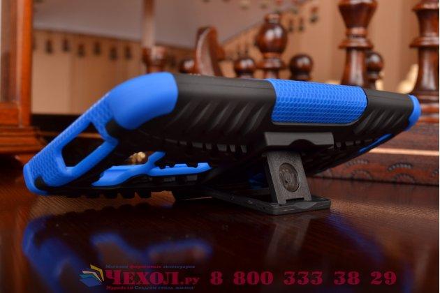 """Противоударный усиленный ударопрочный фирменный чехол-бампер-пенал для ASUS Zenfone 2 Lazer ZE550KL 5.5"""" синий"""