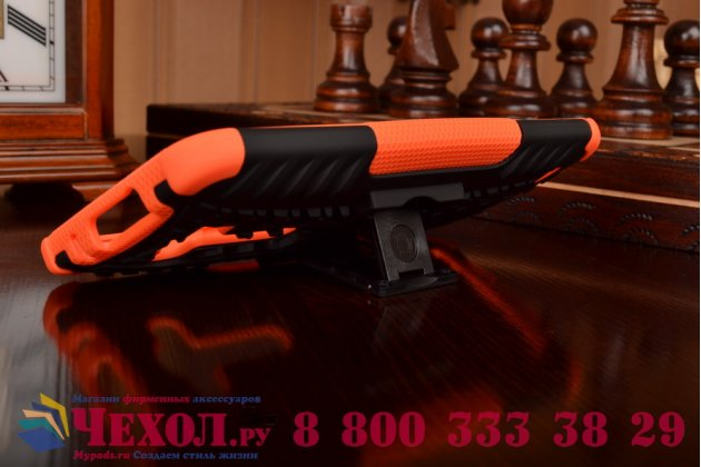 """Противоударный усиленный ударопрочный фирменный чехол-бампер-пенал для ASUS Zenfone 2 Lazer ZE550KL 5.5"""" оранжевый"""