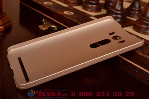 """Фирменная задняя панель-крышка-накладка из тончайшего и прочного пластика для ASUS Zenfone 2 Lazer ZE500KL 5.0""""  золотая"""