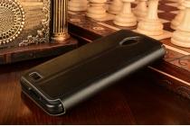 """Фирменный оригинальный чехол-книжка для ASUS ZenFone Live G500TG 5.0"""" черный с окошком для входящих вызовов водоотталкивающий"""