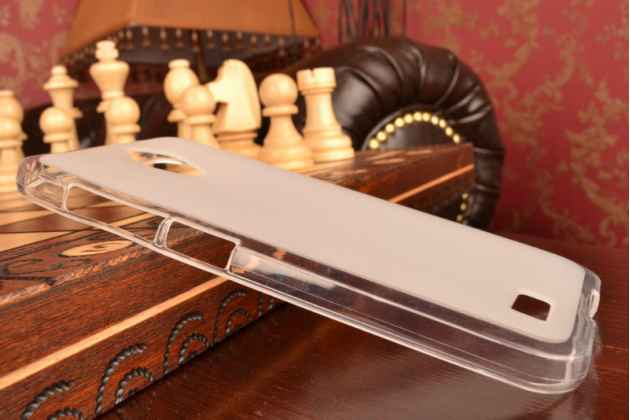 """Фирменная ультра-тонкая силиконовая задняя панель-чехол-накладка для ASUS ZenFone Live G500TG 5.0"""" белая"""