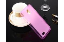 """Фирменная ультра-тонкая силиконовая задняя панель-чехол-накладка для ASUS ZenFone Live G500TG 5.0"""" розовая"""