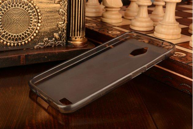 """Фирменная ультра-тонкая силиконовая задняя панель-чехол-накладка для ASUS ZenFone Live G500TG 5.0"""" серая"""