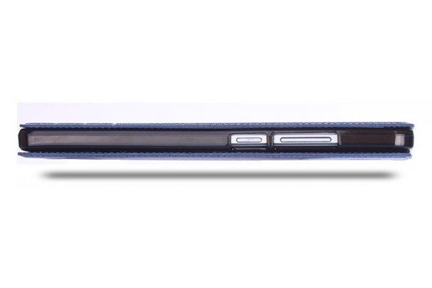 Фирменный чехол-книжка для ASUS ZenFone 3 Ultra ZU680KL 6.8 синий с окошком для входящих вызовов водоотталкивающий