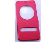 Фирменный чехол-книжка для ASUS ZenFone 3 Ultra ZU680KL 6.8 красный с окошком для входящих вызовов и свайпом в..
