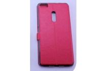 Фирменный чехол-книжка для ASUS ZenFone 3 Ultra ZU680KL 6.8 красный с окошком для входящих вызовов и свайпом водоотталкивающий