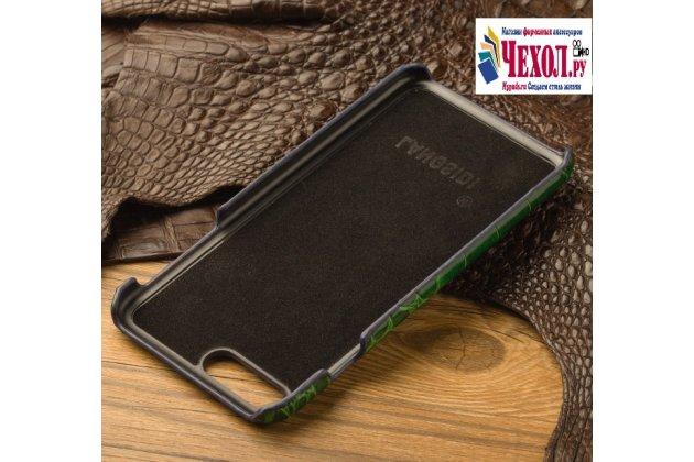 Фирменная элегантная экзотическая задняя панель-крышка с фактурной отделкой натуральной кожи крокодила синего цвета для  Asus ZenFone 3 Zoom ZE553KL 5.5 (Z01HDA) . Только в нашем магазине. Количество ограничено.
